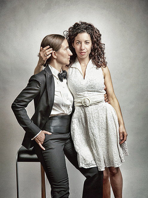 Portrait of Jessica and Jennifer Moon