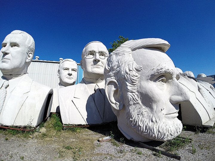 Scuptures by David Adickes in Houston Texas